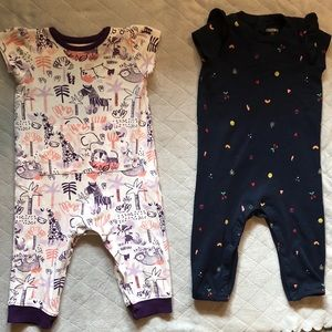 Gymboree 12-18 mo short sleeve romper bundle